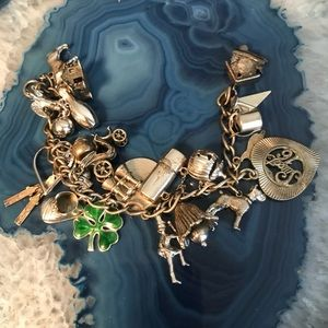 Jewelry - Estate Sterling 925 charm bracelet and  charms!